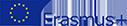 Logo von Erasmus+ mit europäischer Flagge
